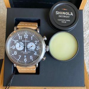 Shinola The Runwell Chrono 47mm - 2 straps Unisex